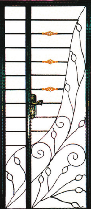 GW787 Wrought Iron Gate
