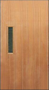 Nyatoh Plywood with glass Fire Rated Door